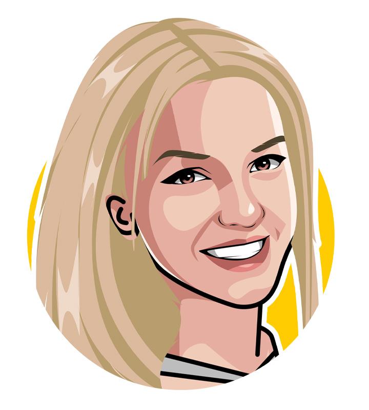 Britney Spears - Profile illustration.  Drawing.  Art.  Princess of Pop.