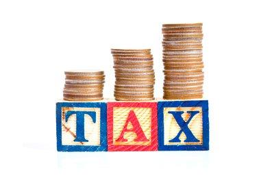 Paying taxes on casino profits.  Image / photo / concept.