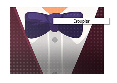 The meaning of croupier is explained.  Who is he/she in the casino world?