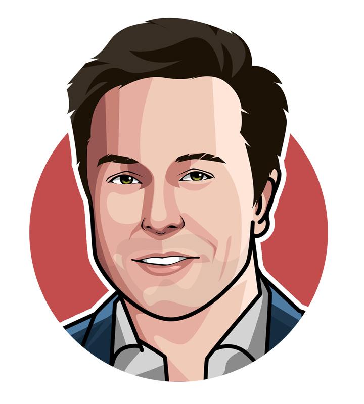 Elon Musk profile drawing.  Illustration.  Art.  Avatar.