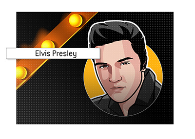 The profile drawing of Elvis Presley.  Illustration.  Art.