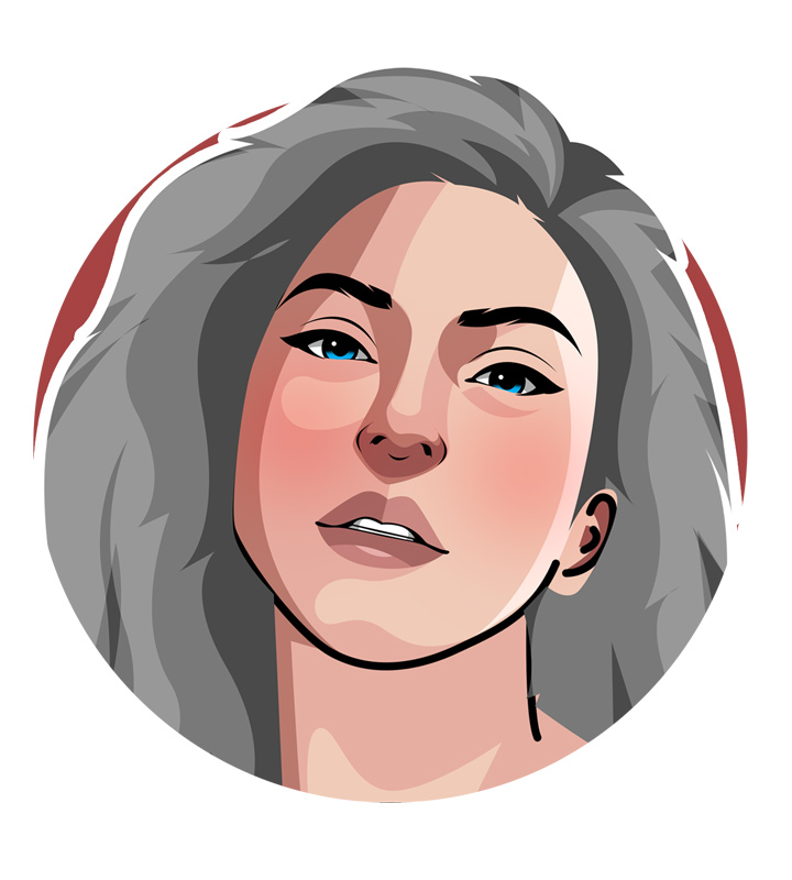Lady Gaga profile illustration - Drawing.  Art.  Stefani Germanotta.  Pop star.