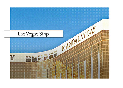 One of the Las Vegas giants - The Mandalay Bay Resort and Casino.