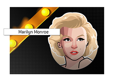 Often seen in Las Vegas - Marily Monroe - The American blonde bombshell of the 1950s and 1960s.