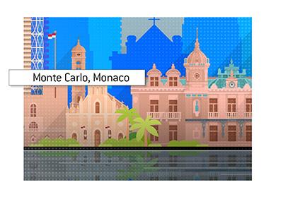 Illustration of the Monte Carlo skyline.  Monaco.