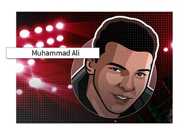 Las Vegas icon - Muhammad Ali - Cassius Clay.