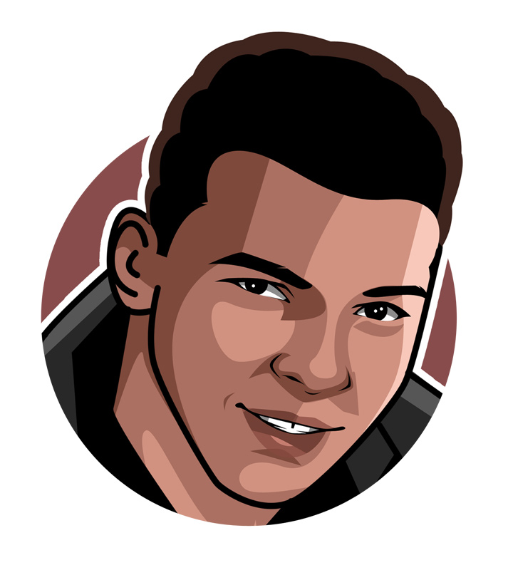 Digital art.  Profile drawing.  Muhammad Ali - Cassius Clay - Boxer.  Icon.  Legend.  Illustration.