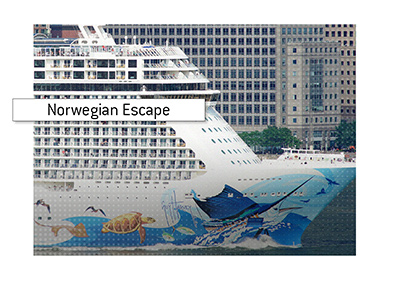 One of the biggest casinos on a cruise ship can be found on the Norwegian Escape.