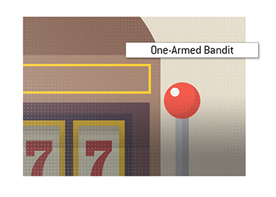 THe origin of the term One-Armed Bandit - Illustration.