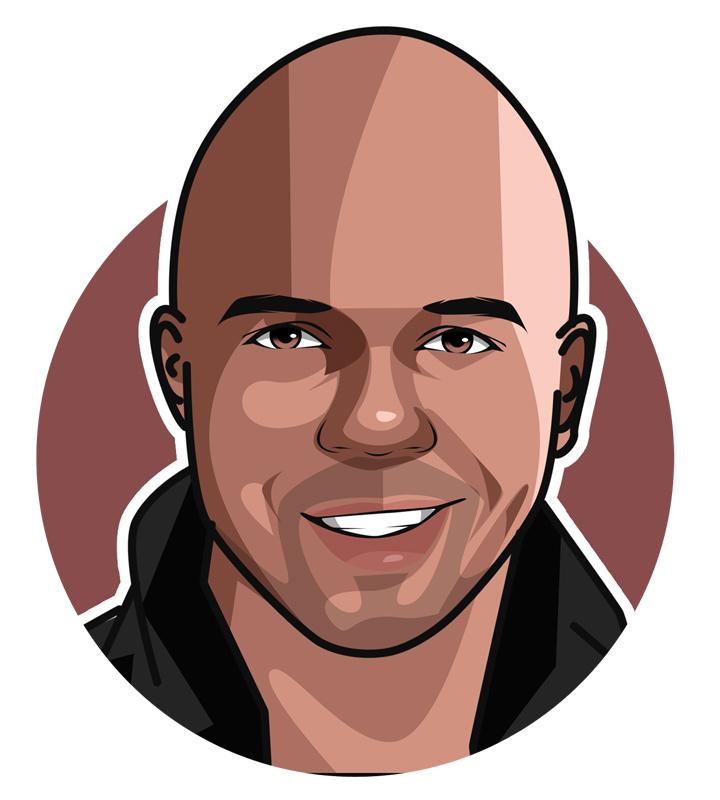 Phil Ivey portrait - Profile illustration. Drawing.
