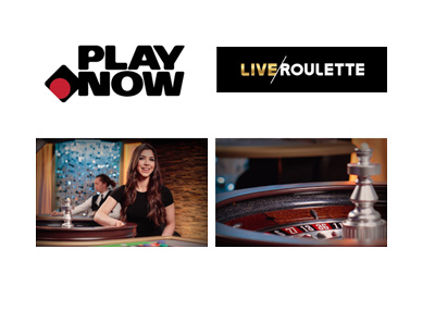 Live roulette is offered at the Canadian online casino - PlayNow.com.