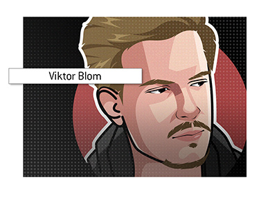 Poker player Viktor Blom - In the spotlight.