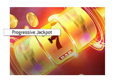 The progressive slots record.  Illustration.