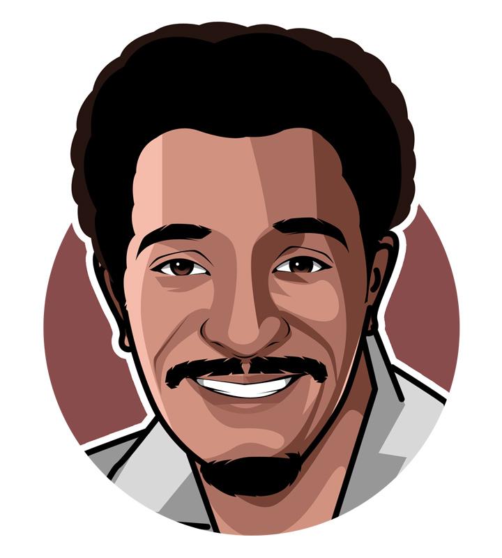 Sammy Davis Jr. profile drawing.  Art.  Illustration.  Avatar.  Mister Show Business.