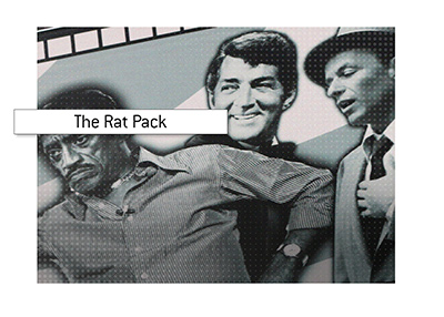 Famous Las Vegas performers of the 1960s - The Rat Pack.
