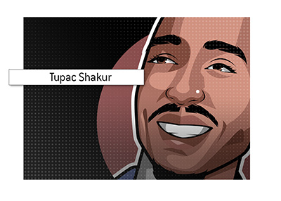 2pac illustration - profile image - Art piece.