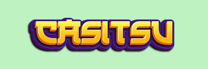 Casitsu Casino logo / branding.  Green background.
