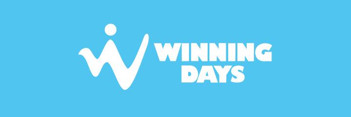 Online Casino logo - Winning Days - Blue background.